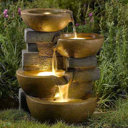 фонтан осветление