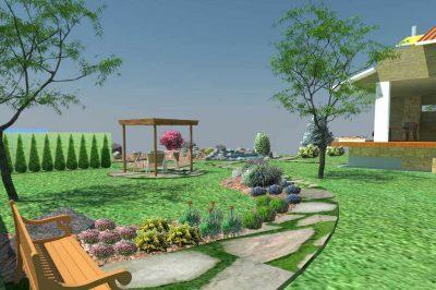 3Д визуализация симеоново озеленяване